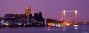 Brug naar de Tijd, Grote Kerk met Zwijndrechtse brug, Dordrecht,